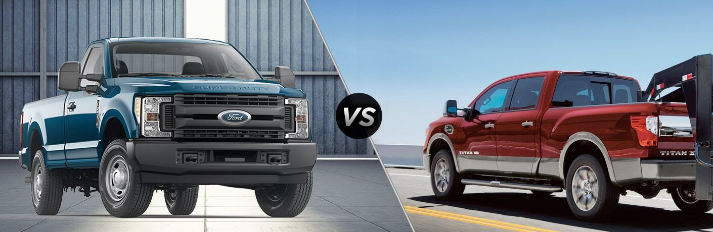 2018 Ford F-250 Super Duty vs 2018 Nissan Titan XD