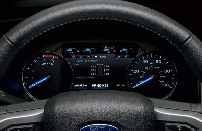 driver information display of a 2018 Ford Super Duty