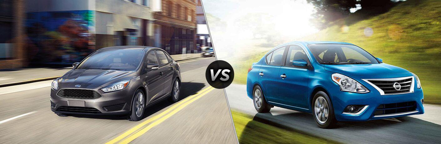 2018 Ford Focus Sedan vs 2018 Nissan Versa Sedan