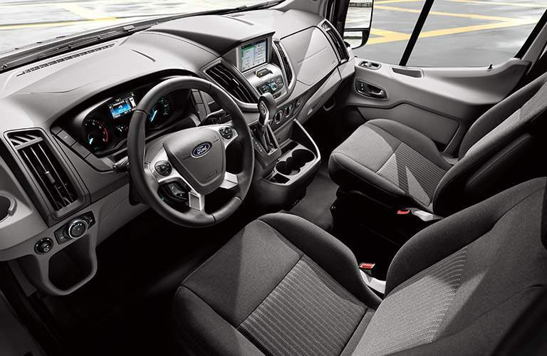 2018 Ford Transit front interior passenger space