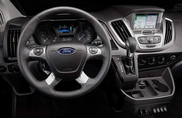 2018 Ford Transit front interior driver dash and infotainment system