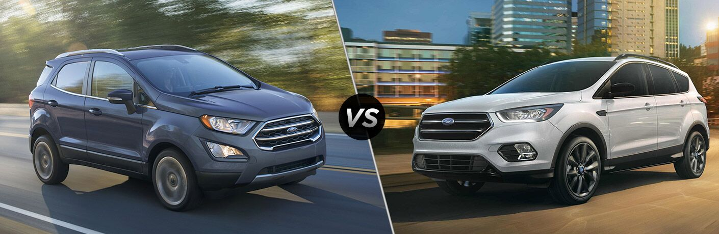 2019 Ford EcoSport vs 2019 Ford Escape