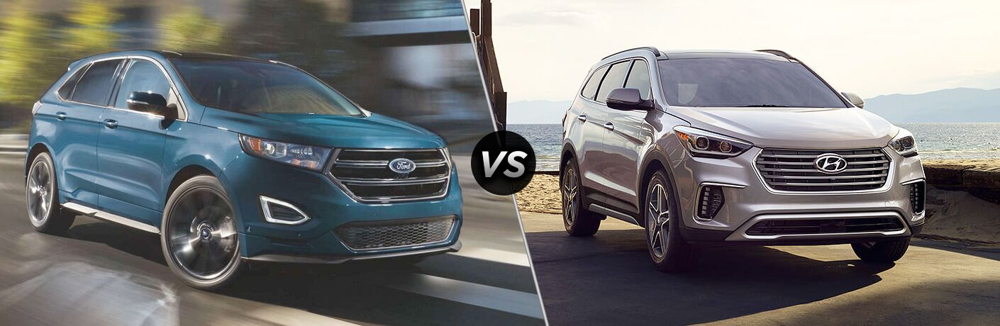 2019 Ford Edge vs 2018 Hyundai Santa Fe