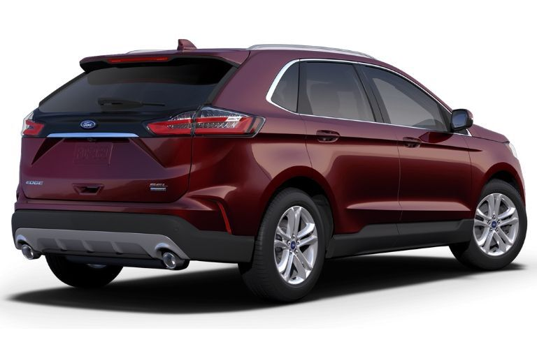 2019 Ford Edge SEL viewed from rear