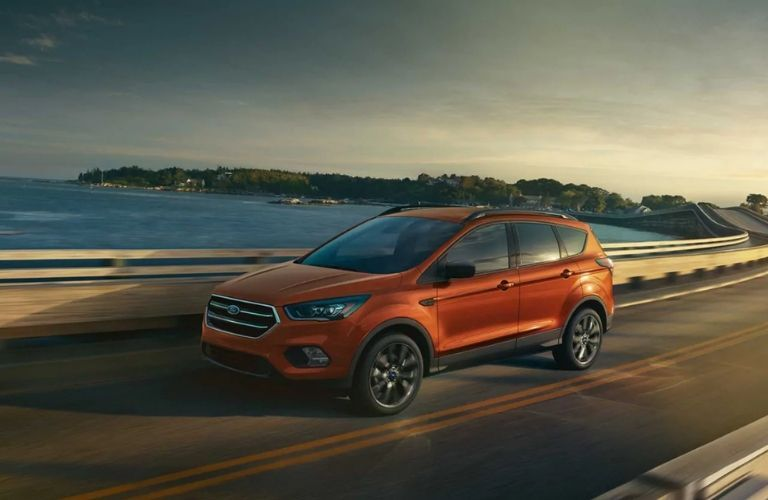2019 Ford Escape SE driving on bridge