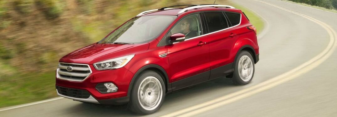 2019 Ford Escape S on curving road