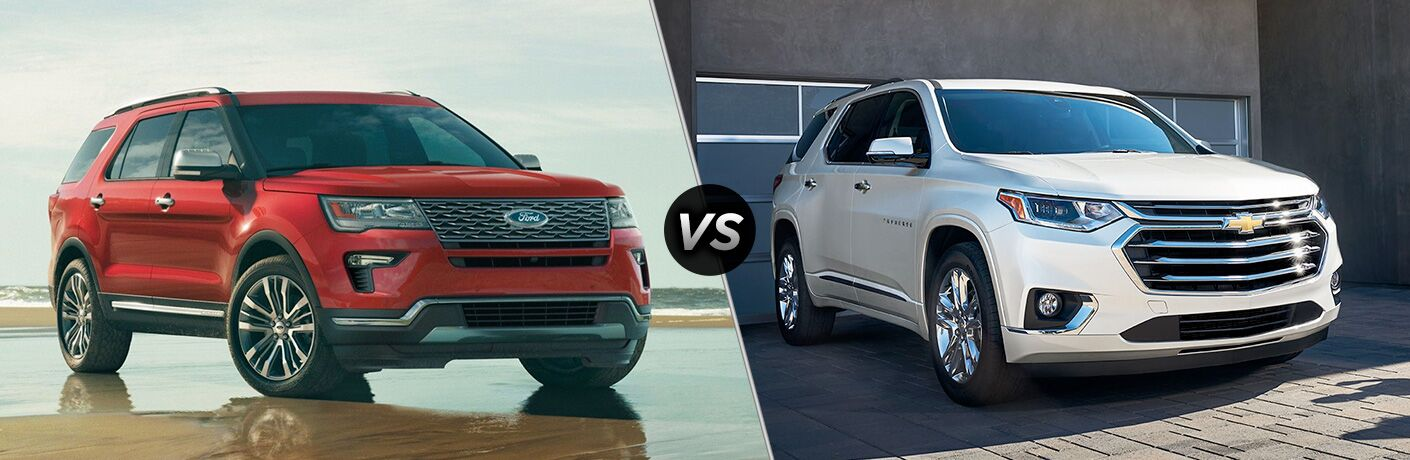 2019 Ford Explorer vs 2019 Chevrolet Traverse