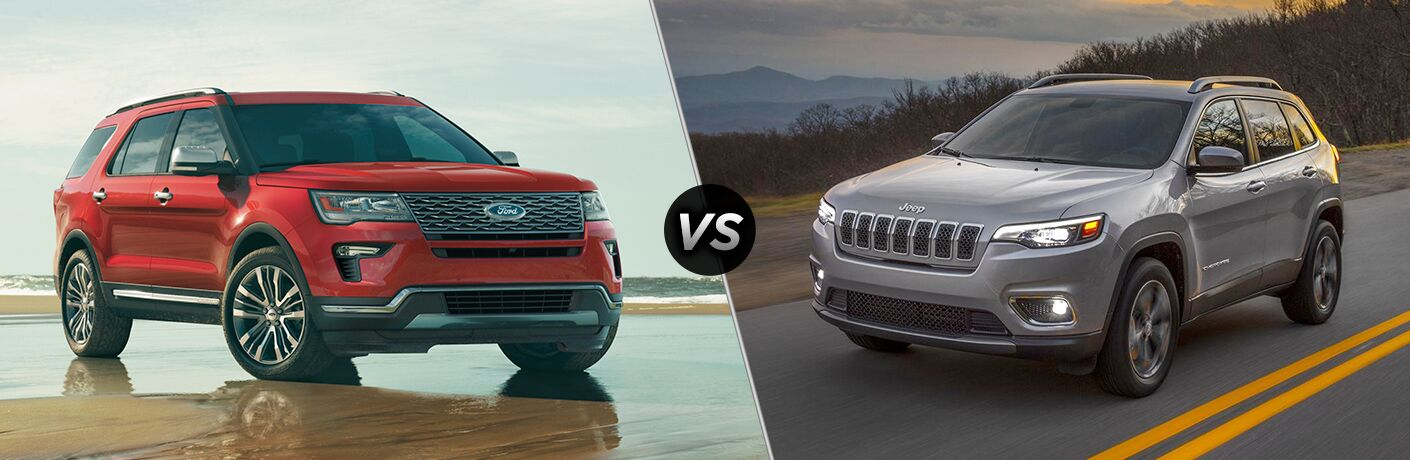 2019 Ford Explorer vs 2019 Jeep Cherokee