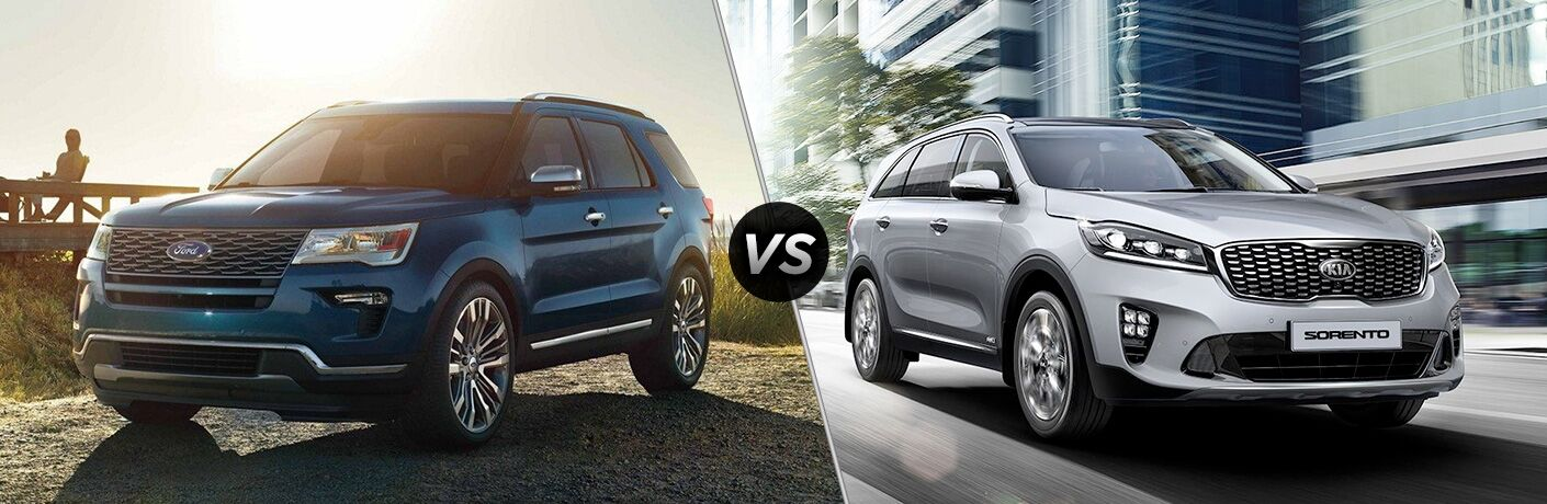 2019 Ford Explorer vs 2019 Kia Sorento