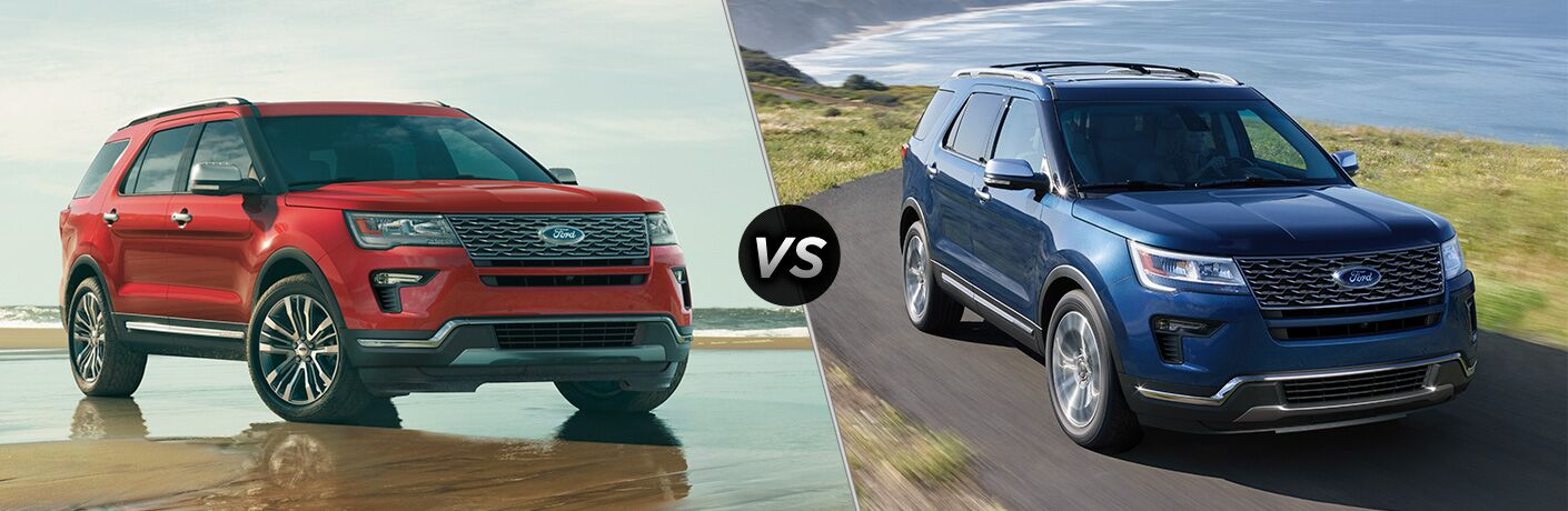 2019 Ford Explorer vs 2018 Ford Explorer