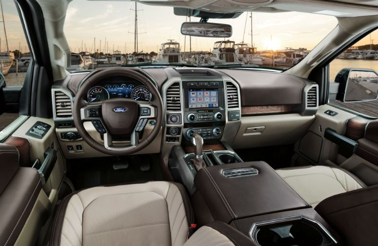 driver dash and infotainment system of a 2019 Ford F-150 Limited