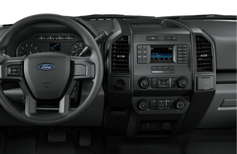 2019 Ford F-150 XL dashboard and steering wheel