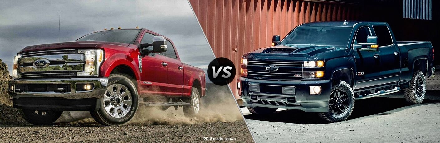 2019 Ford F-250 Super Duty vs 2018 Chevy Silverado 2500