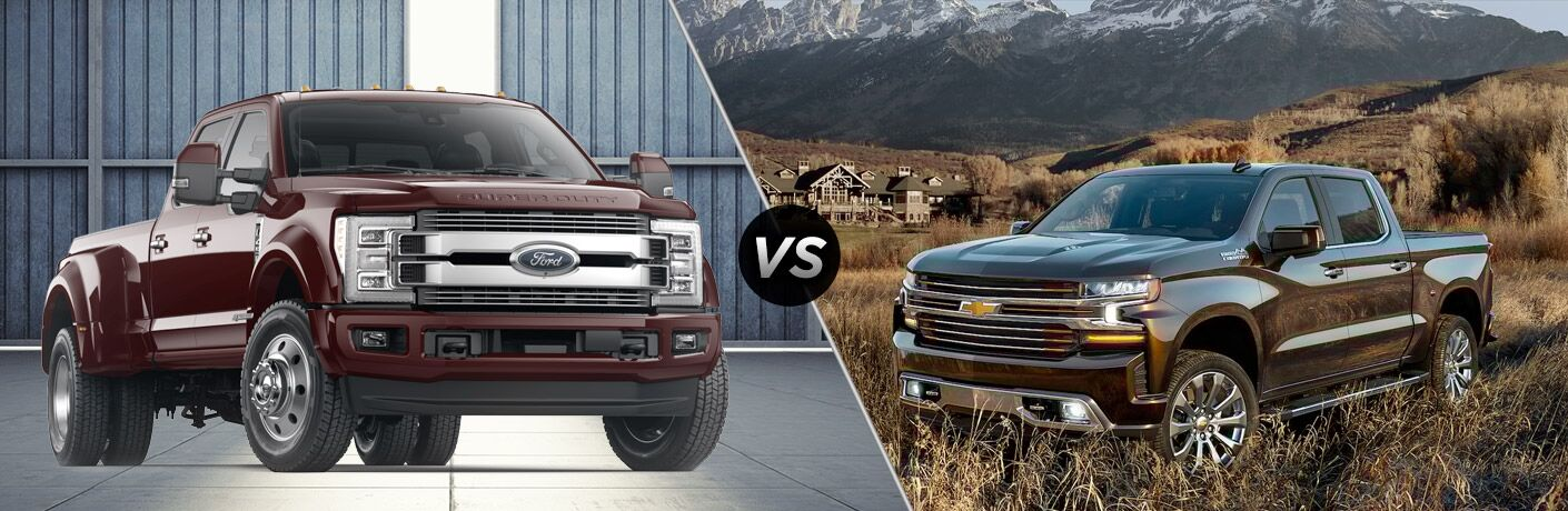 2019 Ford F-450 Super Duty vs 2019 Chevy Silverado 3500 High Country