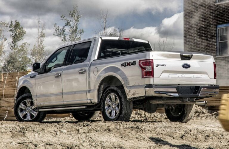 2019 Ford F-150 XLT from Rear on Construction Site