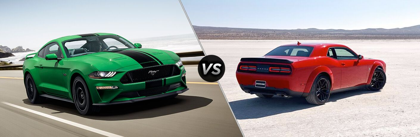 2019 Ford Mustang vs 2019 Dodge Challenger