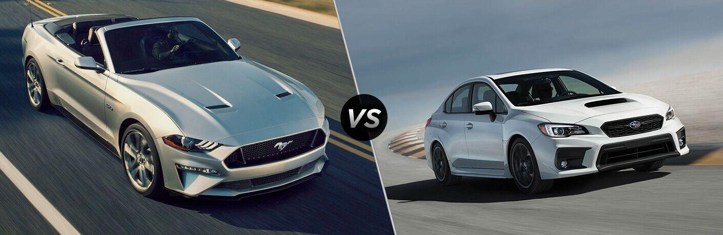 2019 Ford Mustang vs 2019 Subaru WRX