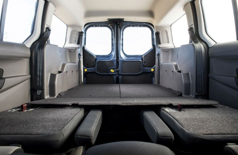 2019 Ford Transit Connect Passenger Wagon cargo area with seats folded
