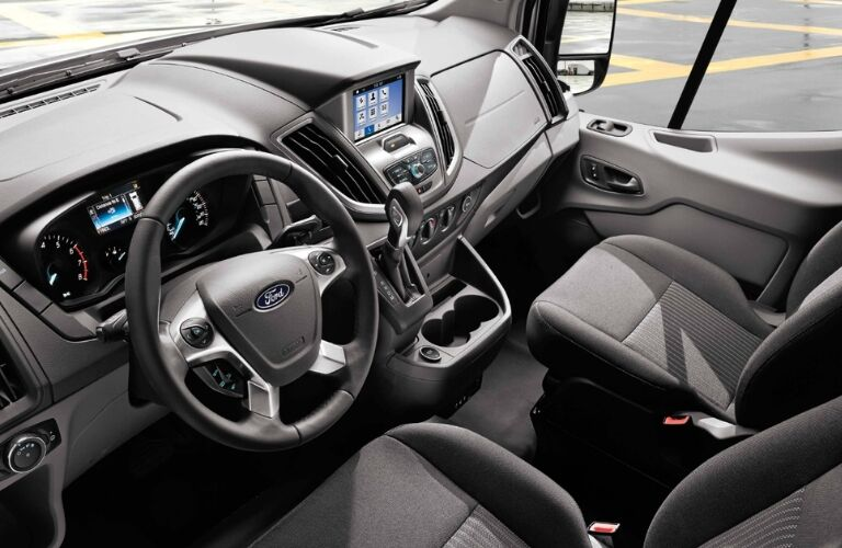 2019 Ford Transit Cutaway Dashboard and Front Seats