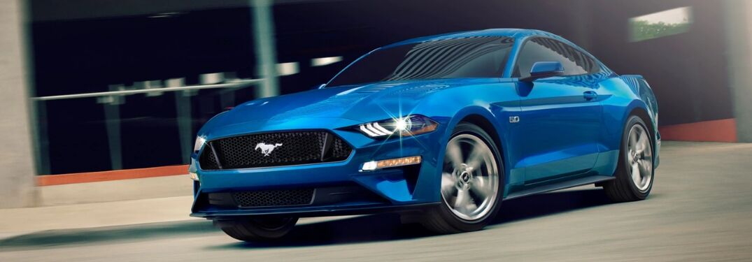 2019 Ford Mustang GT driving on pavement