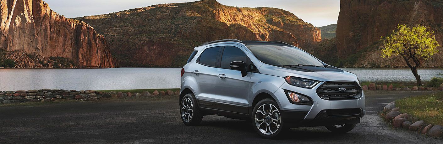 2020 Ford EcoSport by mountain and lake landscape