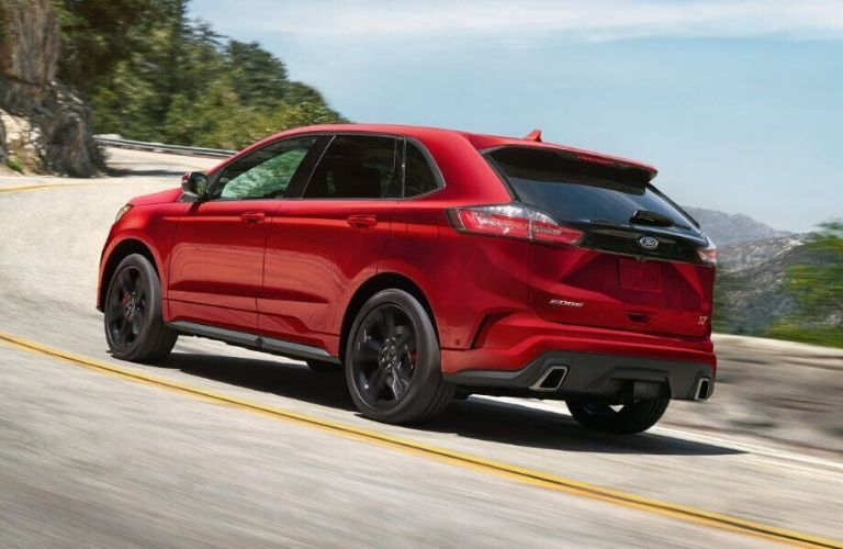 2020 Ford Edge ST on winding road