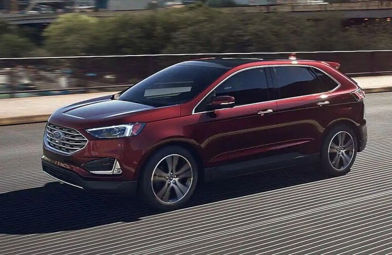 2020 Ford Edge crossing city bridge