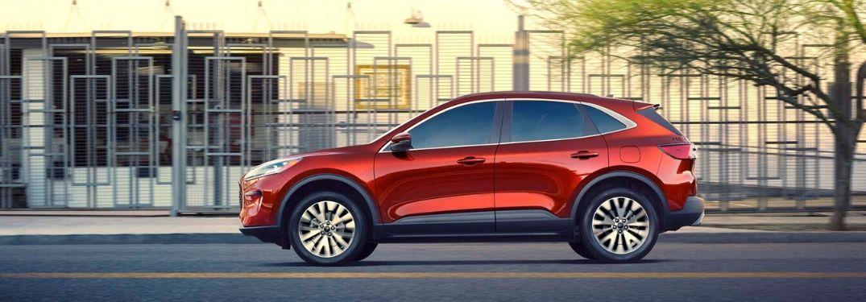 2020 Ford Escape Titanium Hybrid on city street