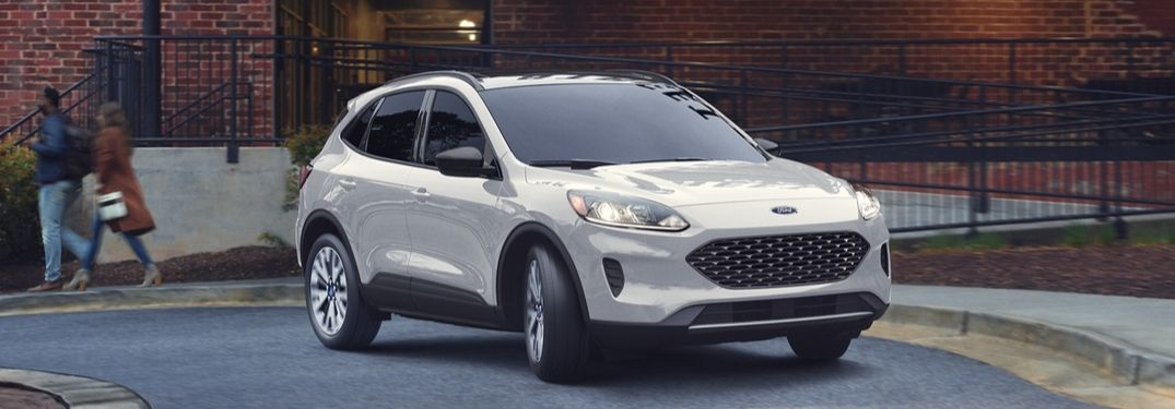 2020 Ford Escape on winding road