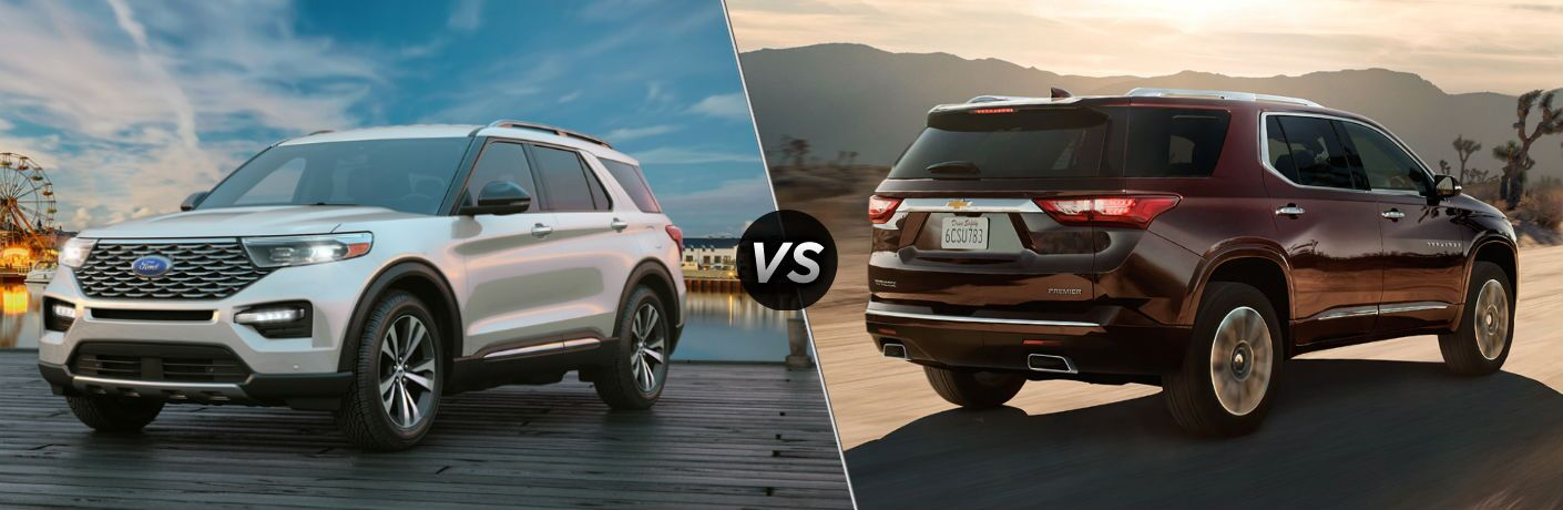 2020 Ford Explorer vs 2020 Chevy Traverse