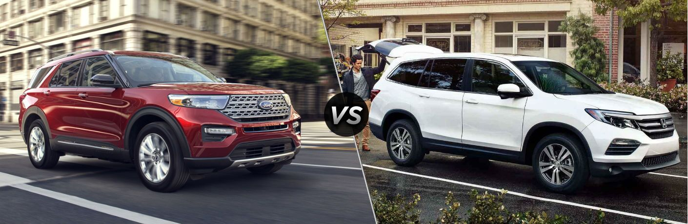 2020 Ford Explorer vs 2020 Honda Pilot