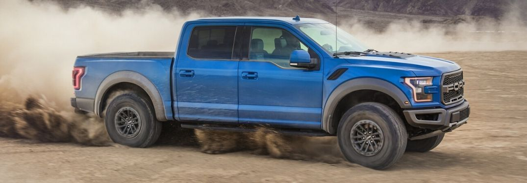 2020 Ford F-150 Raptor on dry desert terrain