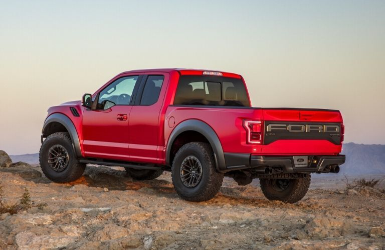 2020 Ford F-150 Raptor on rocky cliff