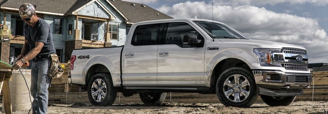2020 Ford F-150 XLT on construction site