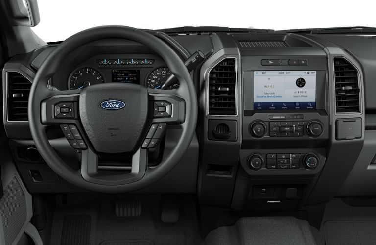 2020 Ford F-150 XLT dashboard and steering wheel