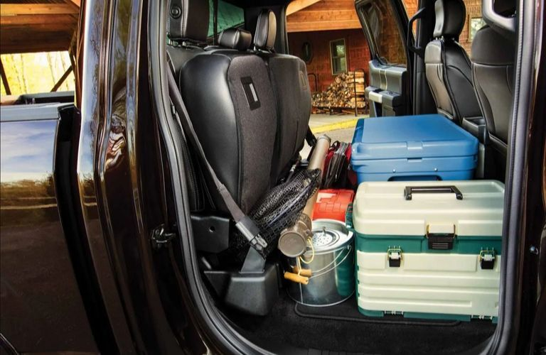 2020 Ford F-150 rear seat cargo storage