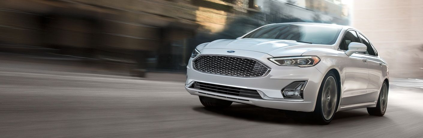 2020 Ford Fusion driving down road