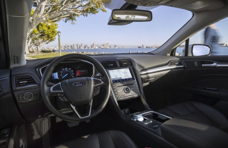 2020 Ford Fusion dashboard and steering wheel