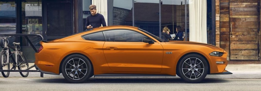 2020 Ford Mustang parked along city street