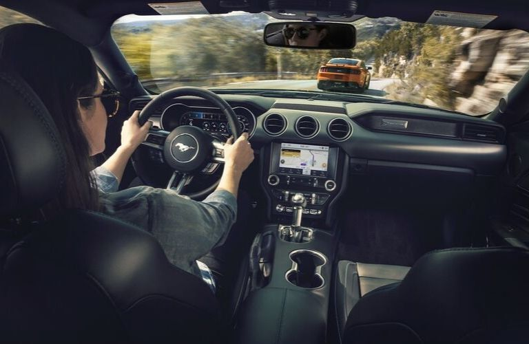 2020 Ford Mustang dashboard and steering wheel