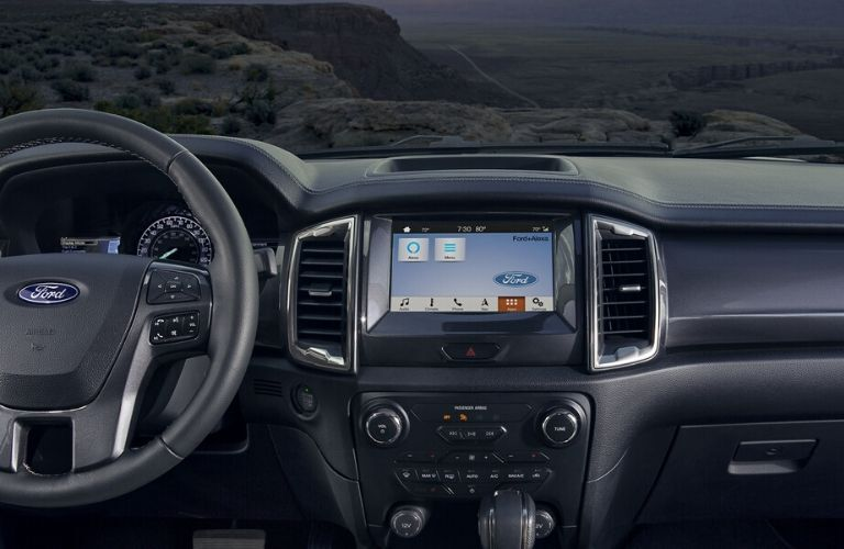 2020 Ford Ranger dashboard and steering wheel