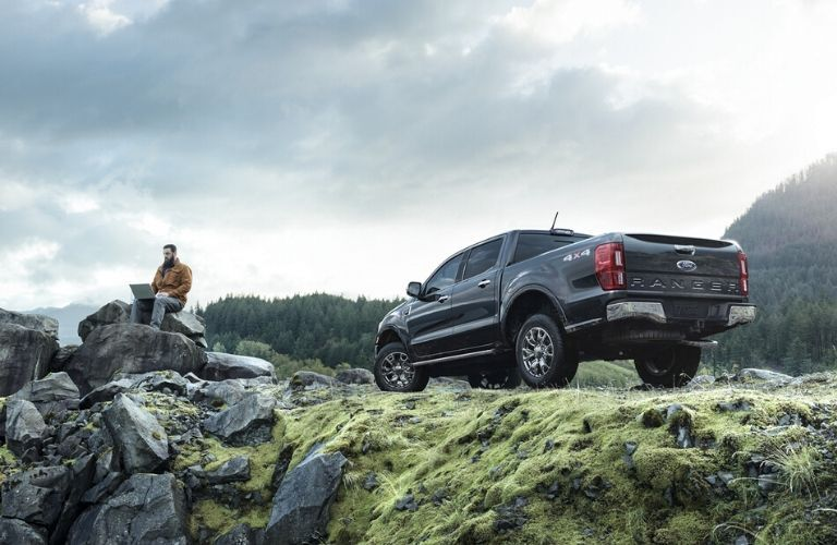 2020 Ford Ranger on rocky hill