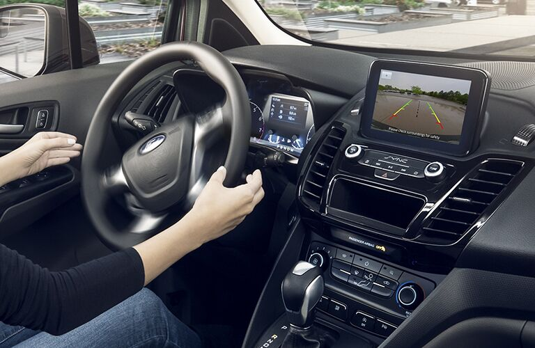 2020 Ford Transit Connect Cargo Van dashboard and steering wheel