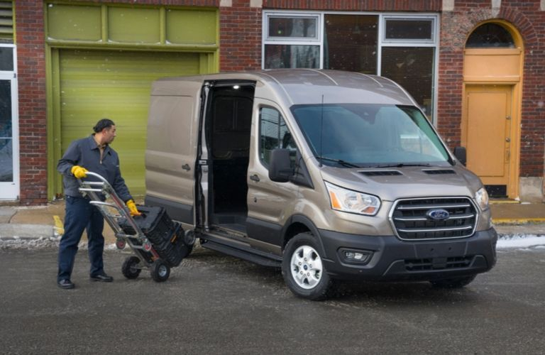 2020 Ford Transit cargo van side door