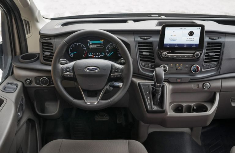 2020 Ford Transit cargo van dashboard and steering wheel