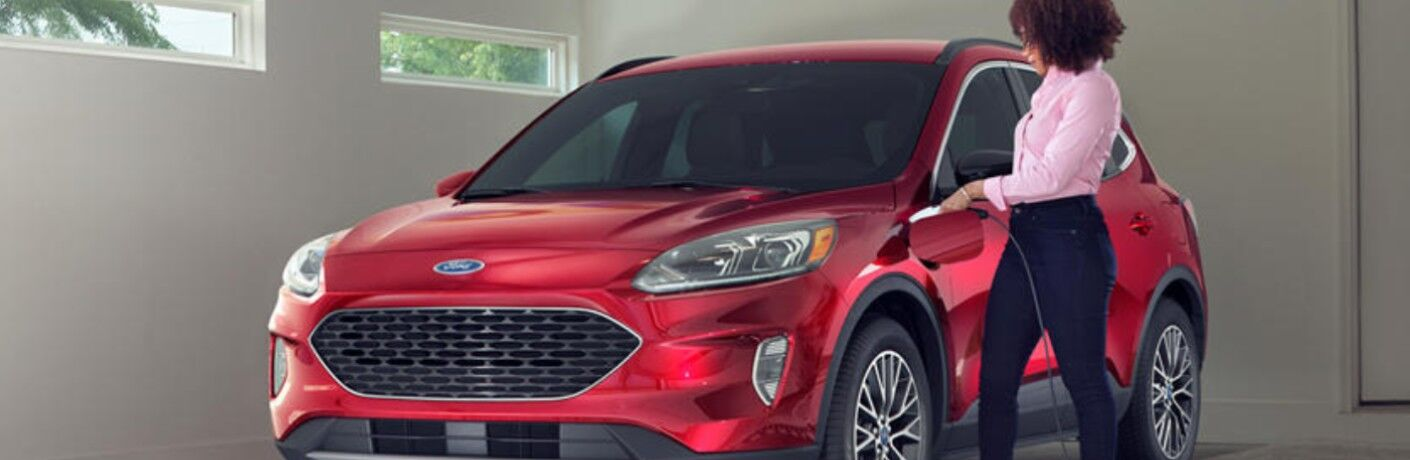 2020 Ford Escape Plug-In Hybrid charging in residential garage