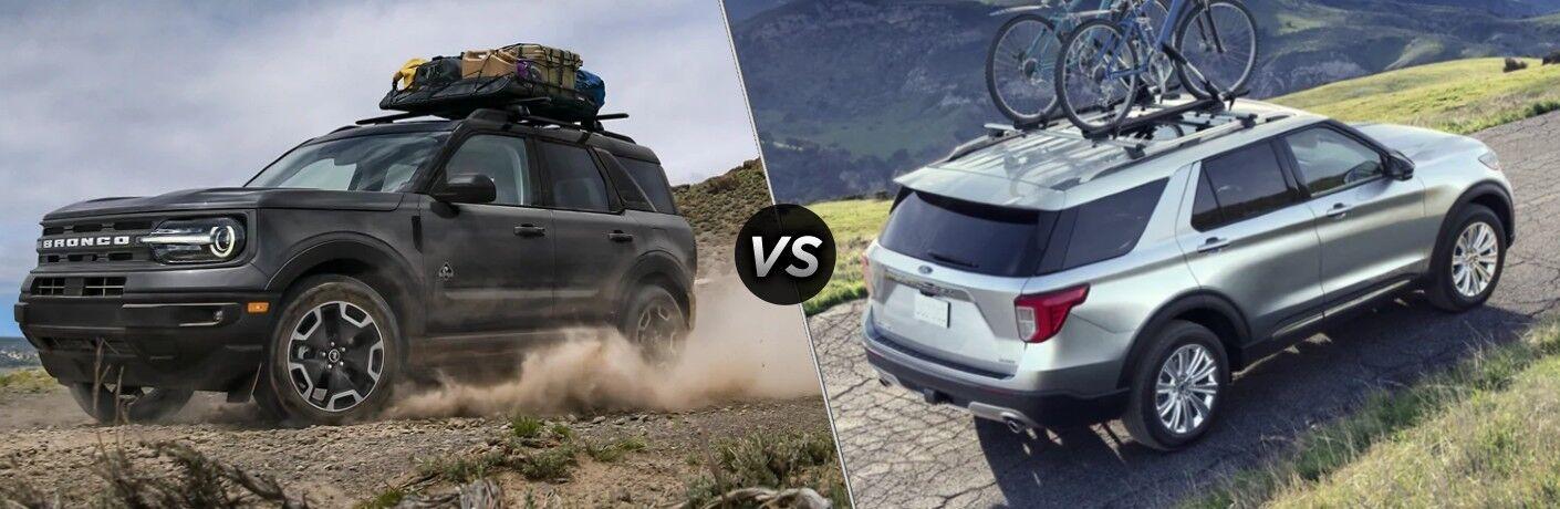 2021 Ford Bronco Sport vs 2020 Ford Explorer