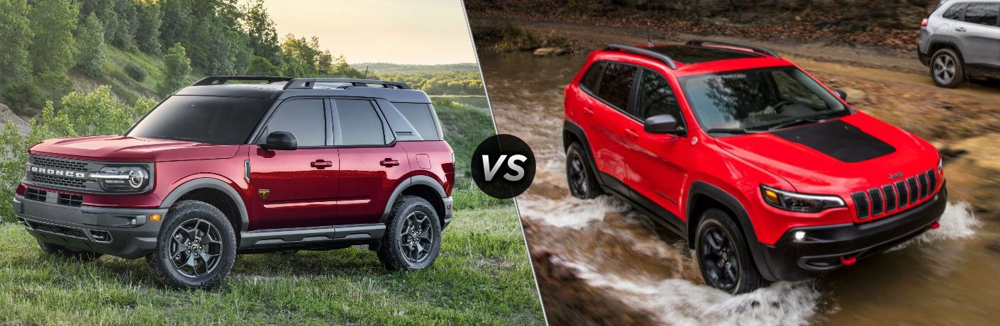 2021 Ford Bronco Sport vs 2020 Jeep Cherokee