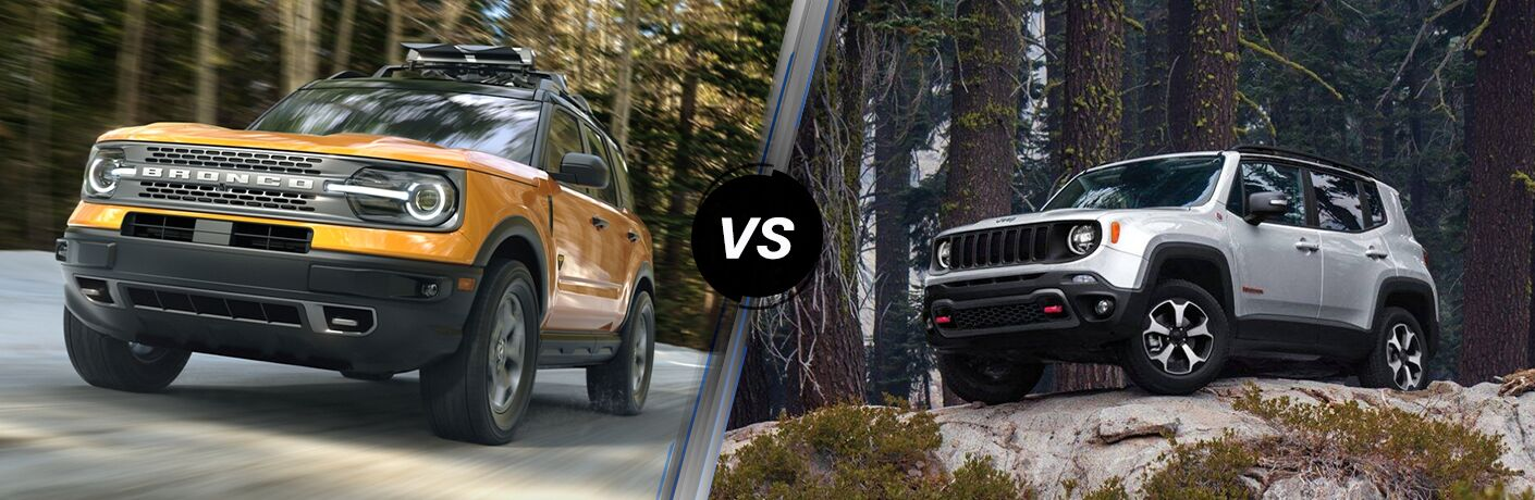 2021 Ford Bronco Sport vs 2020 Jeep Renegade