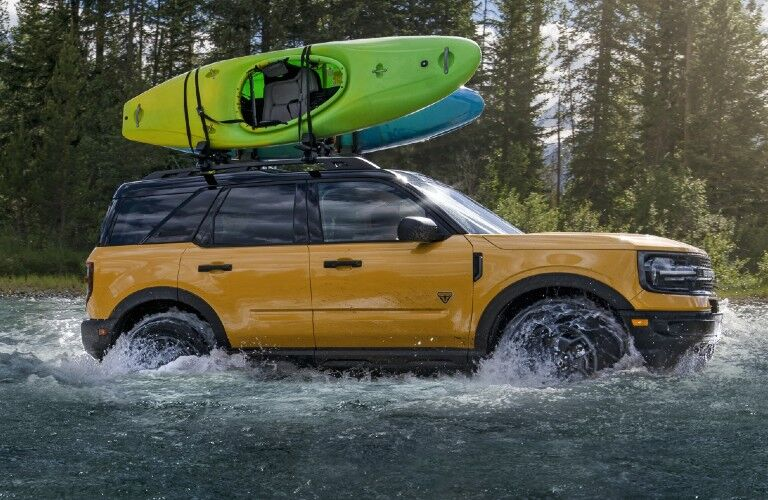 2021 Ford Bronco Sport fording through water